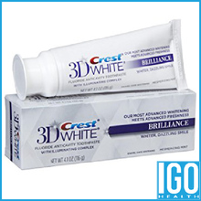 Crest 3D White Brilliance Enamel Aman Teeth Whitening Toothpaste Mesmerizing Mint Flavor 4.1 Oz