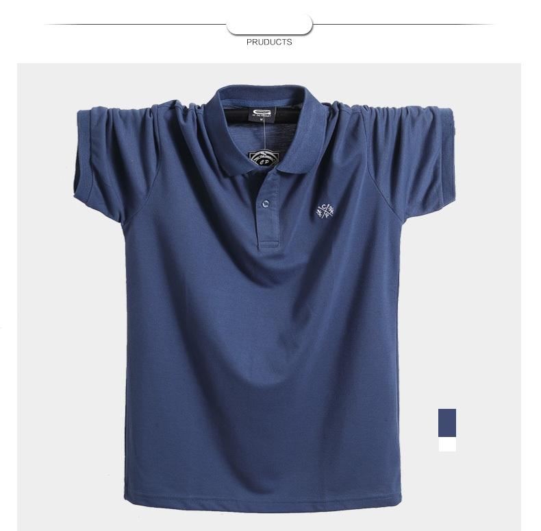 2018 Summer Men Polo Shirt Brand Clothing Pure Cotton Men Business Casual Male Polo Shirt Short Sleeve Breathable Polo Shirt 5XL 8