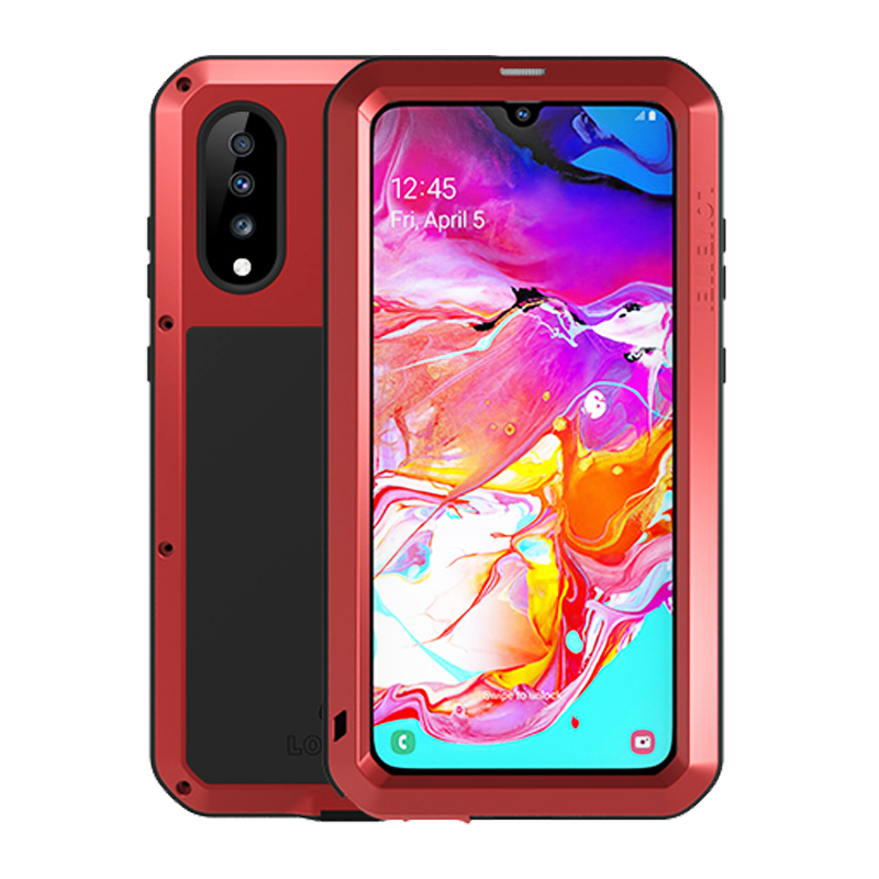 Image 2 - Waterproof 360 Full Body Protective Case For Samsung Galaxy A70 Case Shockproof Aluminum Metal Back Cover For Samsung A70 Cases-in Fitted Cases from Cellphones & Telecommunications