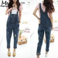 Fanala rompers womens jumpsuit 2017 jeans baggy jeans macacão cheio comprimento pinafore dungaree mulheres em geral jumpsuit romper