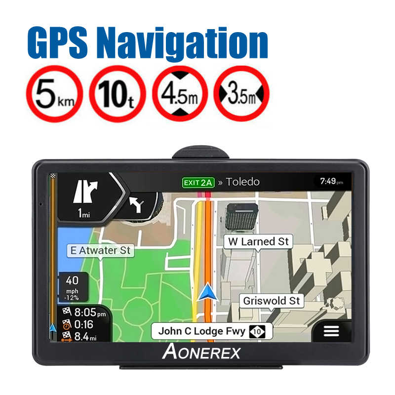 Car GPS navigator 7 inch HD LCD screen car GPS navigation FM Navitel satellite navigation truck GPS navigation auto parts latest