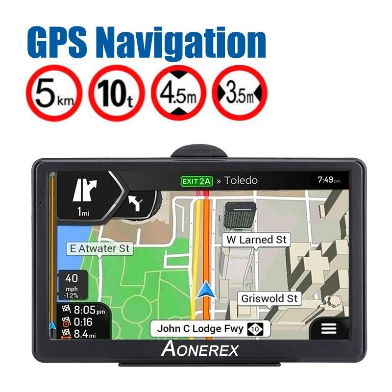 Car GPS Navigator 7 Inch HD LCD Screen Car GPS Navigation FM Navitel Satellite Navigation Truck GPS Navigation Auto Parts Latest