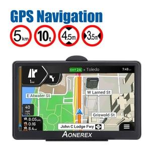 Car GPS navigator 7 inch HD screen car GPS navigation FM Navitel satellite navigation truck GPS navigation car latest Europe map