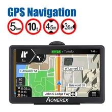 Navegador de GPS para coche con pantalla HD de 7 pulgadas, navegación GPS para coche, FM, Navitel, navegación por satélite para camión, navegación GPS, último mapa de europa