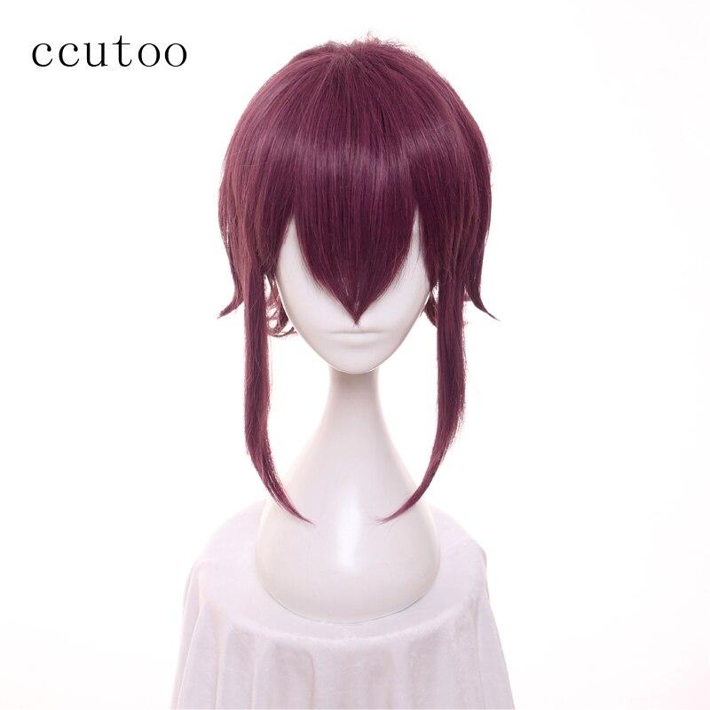 ccutoo 12inch Dark Red Mix Short Layered Re:Creators Mirokuji Yuuya Syntheitic Fluffy Layered Hair Cosplay Wig