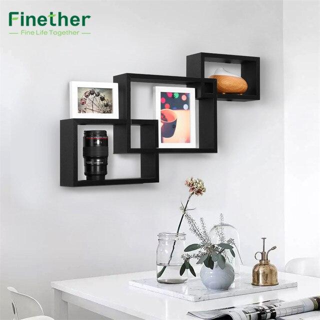 Finether 3 Piece Si Intersecano Rettangolare Galleggiante Mensole ...