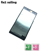 Front Middle Frame Bezel Plate Chassis Housing For Sony Xperia Z Ultra XL39h XL39 C6802 Black
