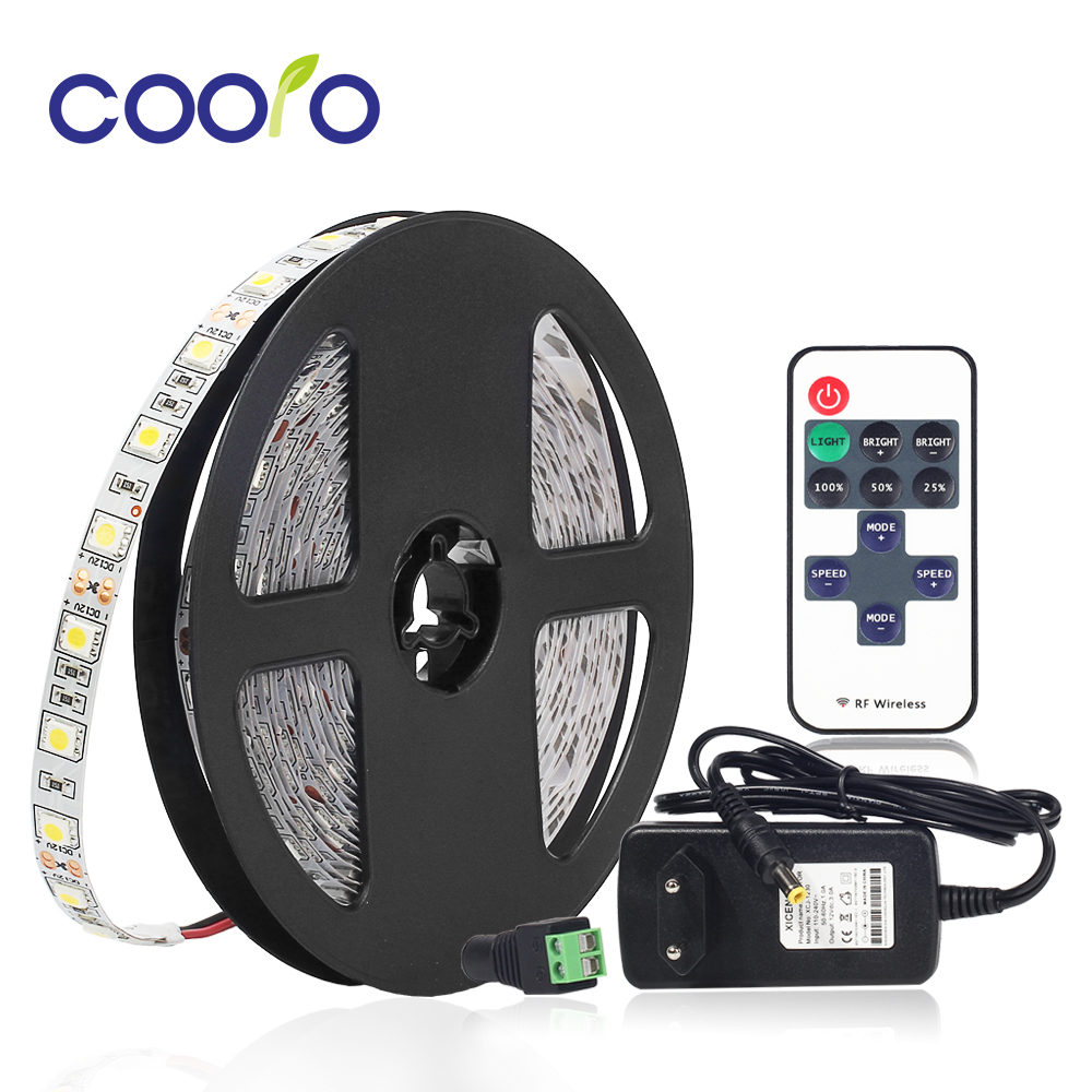 5M 5050 Warm White White LED Strip Light Waterproof Cold White LED Ribbon Tape RF 11Key Remote Controller 12V Power Adapter Kit 5M 5050 Warm White White LED Strip Light Waterproof Cold White LED Ribbon Tape RF 11Key Remote Controller 12V Power Adapter Kit