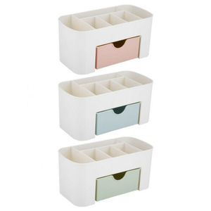 Image 5 - 2019 New Brand Fashion Table Organiser Make up Holder Jewelry Storage Box Cosmetic Desk Drawer Case