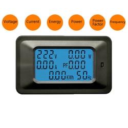 Woltomierz z cyfrowym amperomierzem AC 110-250V 20A/100A licznik energii miernik napięcia prądu współczynnik mocy Monitor częstotliwości