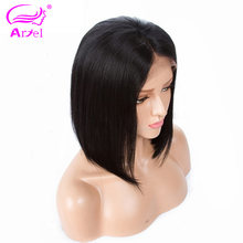Straight Lace Front Wig 13×4 Bob Lace Front Human Hair Wigs For Black Women Peruvian Remy Brown Lace Wigs Short Bob Wig Ariel(China)
