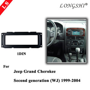 Car refitting DVD frame panel Fascia Audio frame for Jeep Grand Cherokee 99-04 (WJ)Chrysler 300M Caravan 01-07 Neon Voyager 1DIN(China)