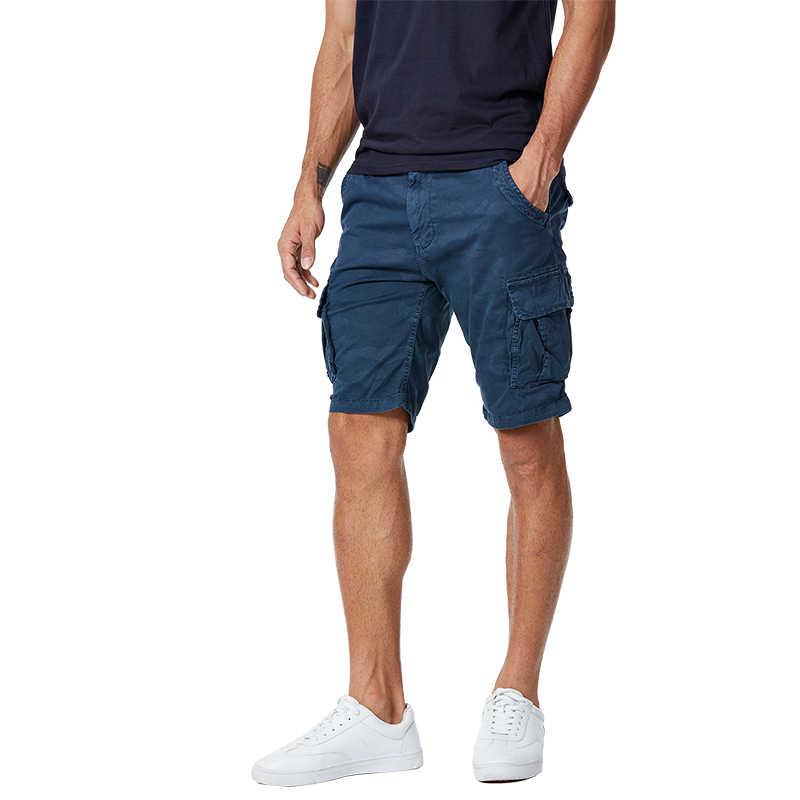 GLO-STORY marca tamaño europeo de la alta calidad de los hombres pantalones cortos de algodón de los hombres de verano Casual de carga corto Bermudas Masculina MMK-6231