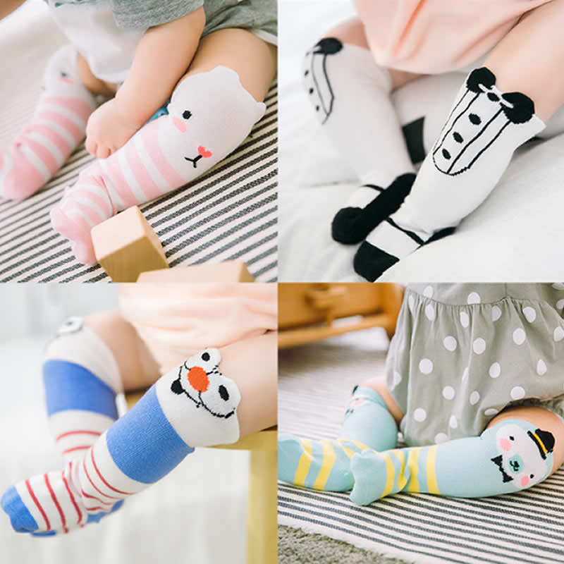 Baby Socks Spring three-dimensional Cartoon Stripes Cotton Tube Socks Gentleman Cartoon Knee High Leg Warms Socks