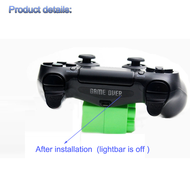 10pcs/20pcs/40pcs Custom Game Light Bar Protect Skin for PlayStation4 PS4 LED Light Bar Cover Decal Skin Sticker Controller 2