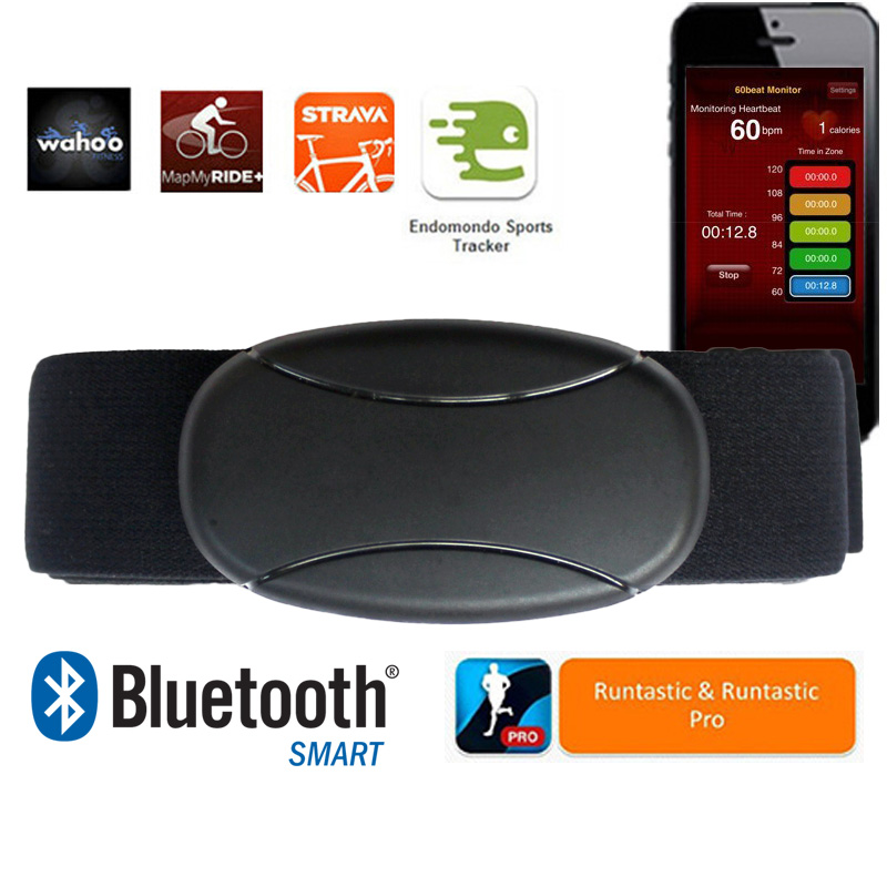 Monitor de ritmo cardiaco Bluetooth 4.0 para iOS + dispositivos Android