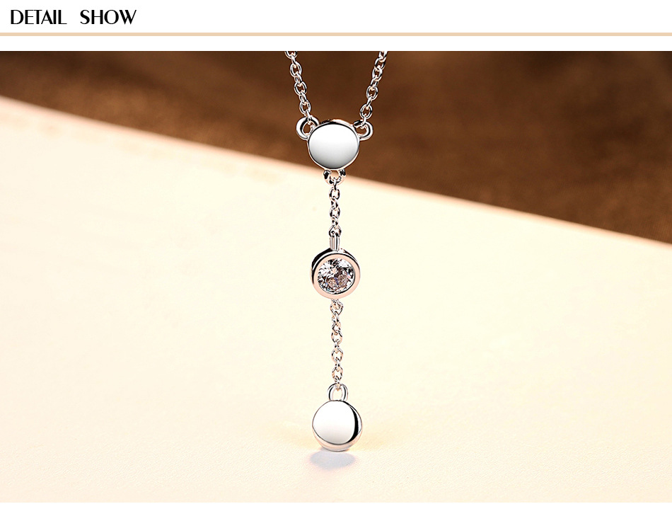 S925 sterling silver pendant necklace clavicle chain simple fashion ladies accessories LB05 925 sterling silver diamond dream catcher necklace fashion simple clavicle chain c03