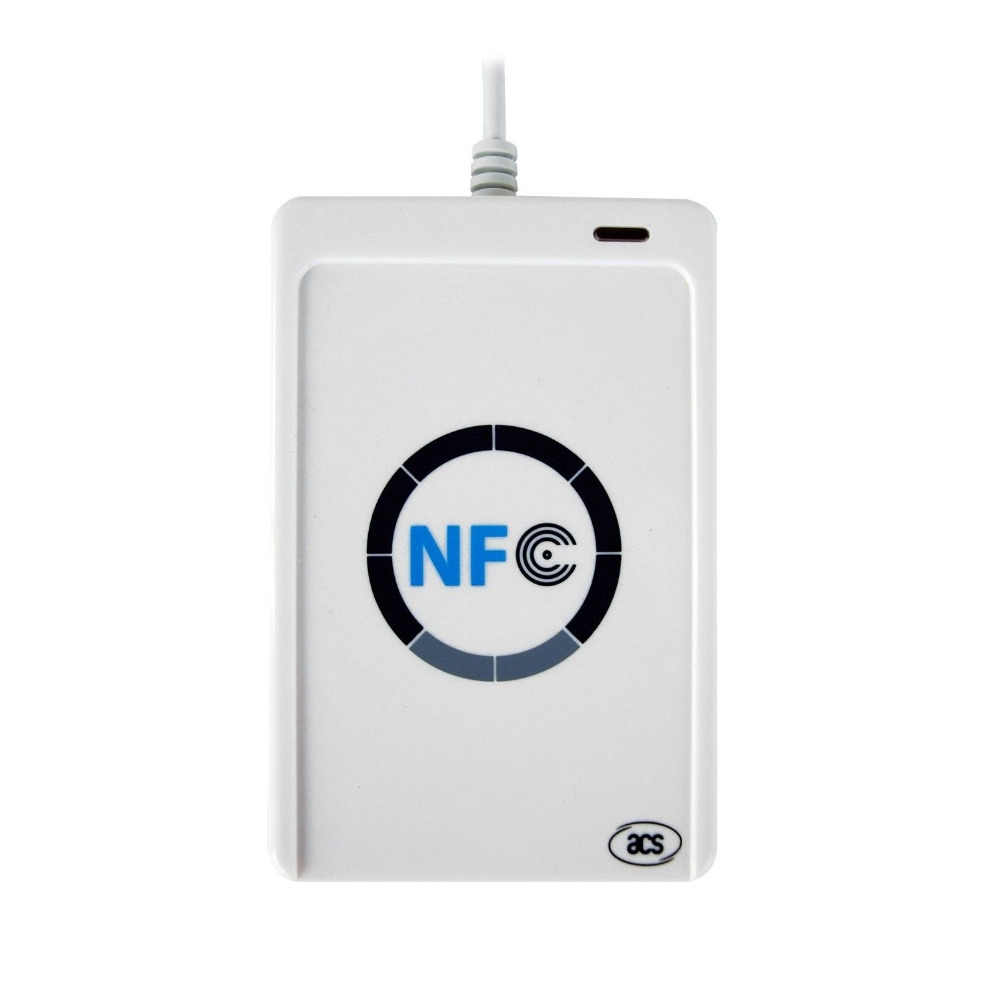 ACR122u USB NFC Programmer 13.56 MHz RFID Reader Writer + SDK + 5 PCS 1 K F08 IC Dukungan Kartu android Linux Mac Windows