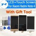 Для Xiaomi Redmi Note 4 LCD + Сенсорный Экран Высокого Качества 100% Новый дисплей Планшета Экран Для Xiaomi Redmi Note 4 Pro Простые