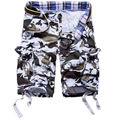 2016 summer comfortable breathable cotton men's camouflage pants beach pants tooling