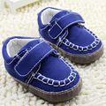 Lona azul de los bebés zapatillas de deporte de moda de calidad infantil bebe suaves unti antideslizante zapatos del niño al por mayor envío gratuito
