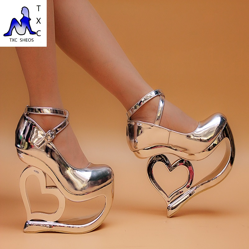 Shoes With Heart Shaped Heels