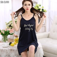 82 Season pure cotton sleepwear plus size maternity lounge 100% cotton spaghetti strap vest nightgown female s 3xl