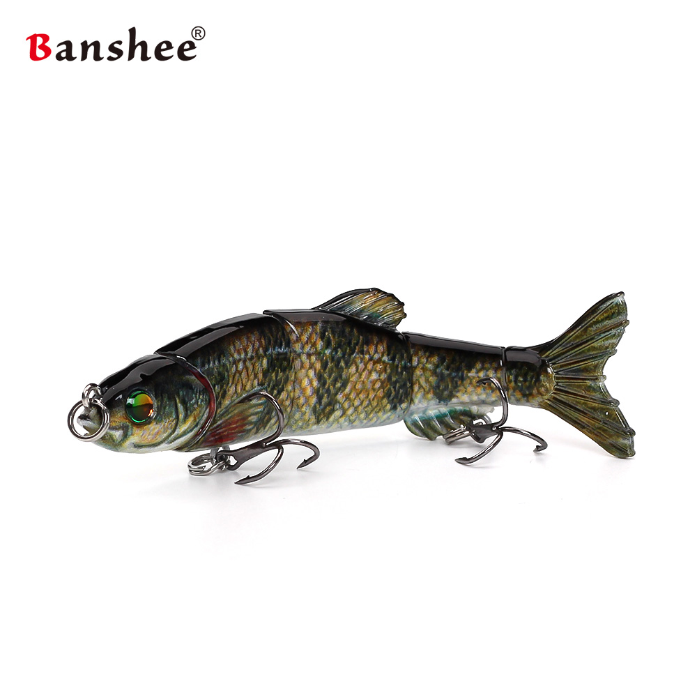 Fishing lures VMJM05-4.5 Swimbait treble hooks Jointed sections fishing wobblers Hard Ar ...