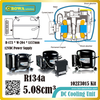 R134A DC compressors are constructed with integrated fan control and electronic thermostat, suitable for telecom cooling