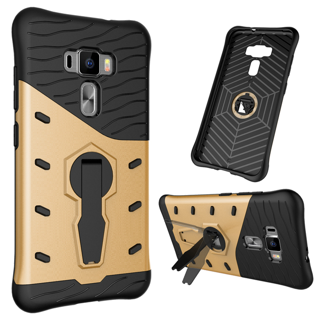 Funda for Asus Zenfone 3 ZE552KL Case Heavy Duty Hard Silicone Iron Man Shield 3D Armor Card Case for Asus Z012D Z012DC Z012DB
