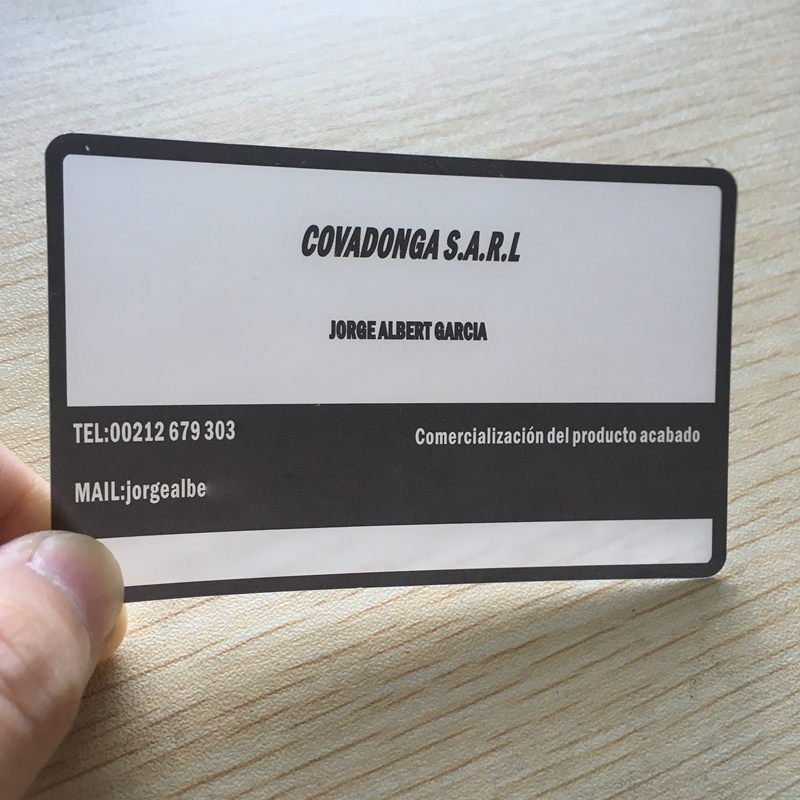 200pcs/ one design Factory custom Transparent PVC Business card ...