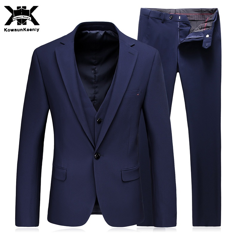 KowaunKeenly Royal Black Blue Mens Suits wedding 2017 New Fashion ...