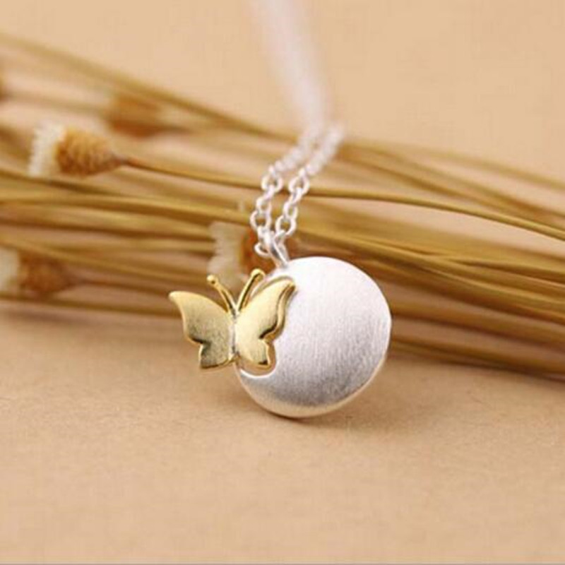 Fashionable Aesthetic Matte Butterfly 925 Sterling Silver