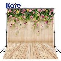 KATE Photography Background Vintage Wood Backdrop Newborn Flower Backdrops Naturism Children Photos For Studio US Delivery