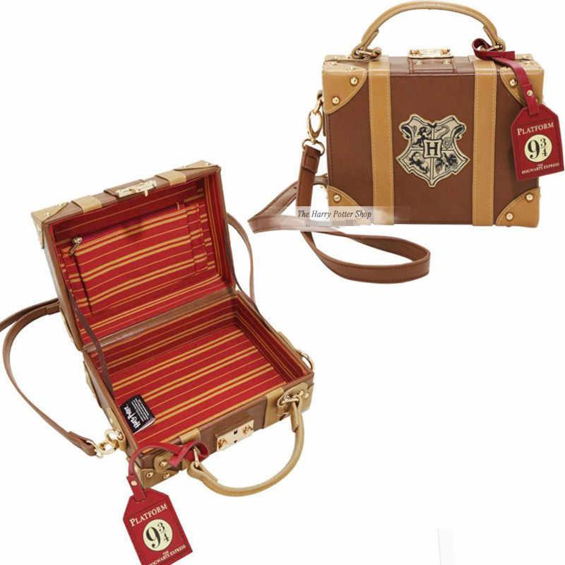 Фигурки волшебной школы сумка Хогвартс PU школьный значок сумка на плечо сумки Хэллоуин Рождественский пакет Косплей Подарки