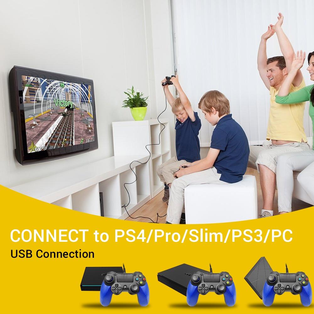 Wired Joystick Game Controller 6Mounths Warranty  For PS4 Joystick Joypad Double Shock Private Model Gamepad Super Slim Games