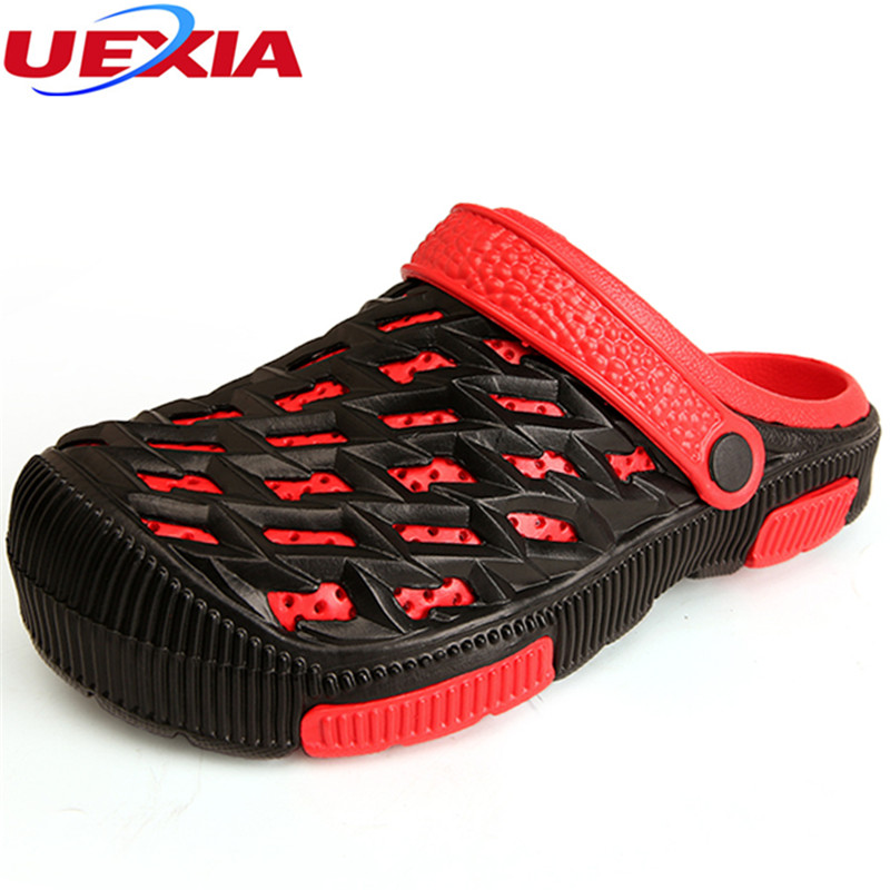 UEXIA Fashion Sneakers Mules Garden Fashion Men slippers Breathable beach sandals male shoes Hollow men shoes sandals for summer