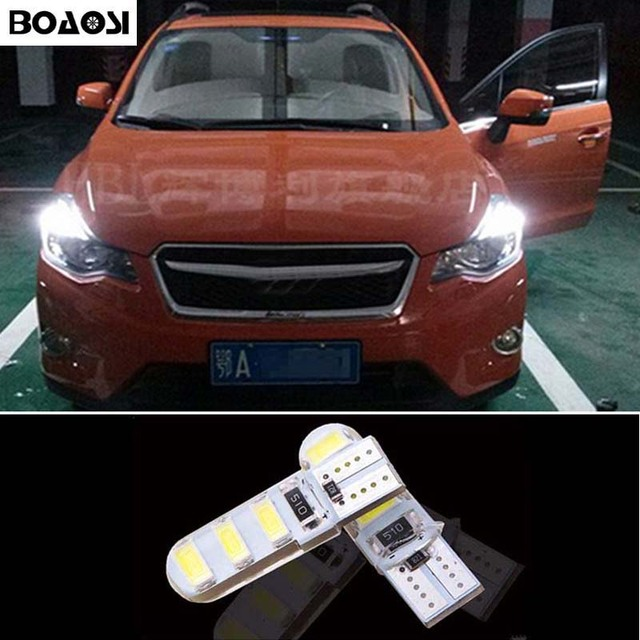 2x T10 W5w Led 5630smd Parking Lights Sidelight No Error For Subaru Impreza Legacy Xv Forester Outback Tribeca Fiat