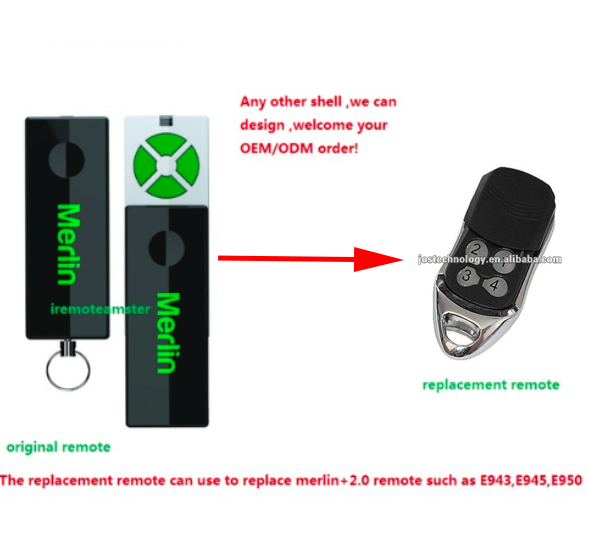 Replacement Remote control for Merlin+2.0 ,compaitble with EVO motor the remote for peccinin remote control 433mhz replacement