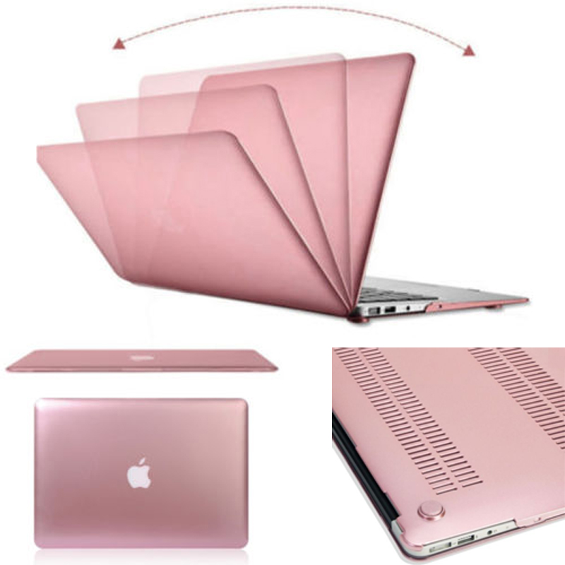 best website d22ad 5ee2c US $10.59 |iClover New Rose Gold Rubberized Laptop Case Cover for MacBook  Air Pro Retina 11
