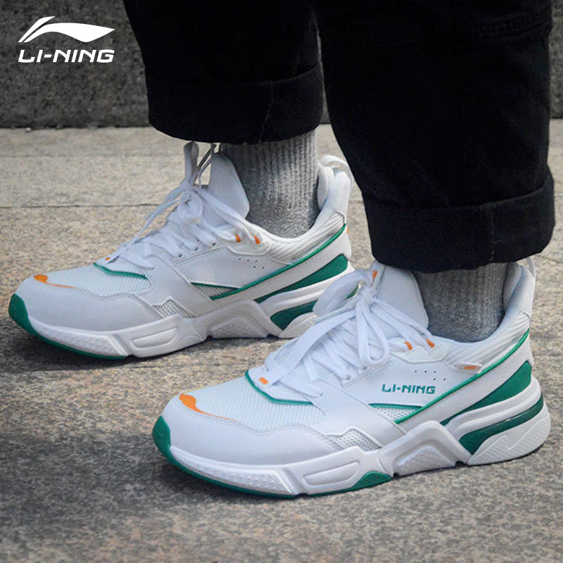 Li-Ning Women 001 CLASSIC Walking Shoes Mono Yarn Breathable Classic LiNing Fitness Sport Shoes Leisure Sneakers AGCP024 SJFM19