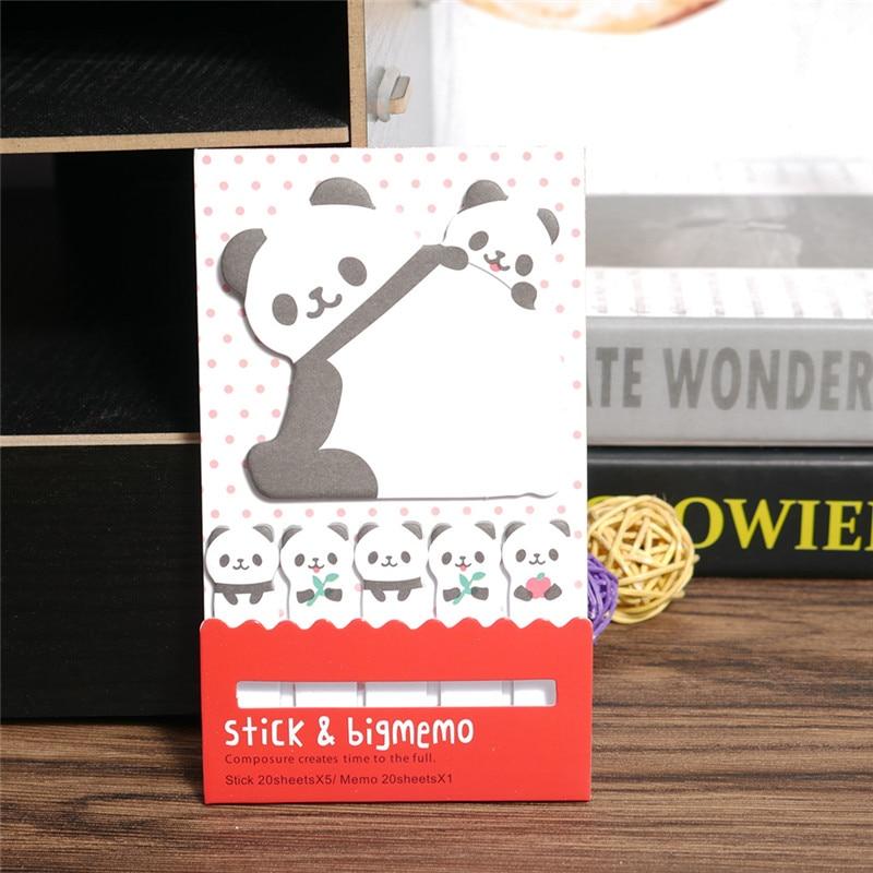 Dier Kat Panda Leuke Kawaii Memoblaadjes Post-it Memo Pad - Notitieblokken en schrijfblokken bedrukken - Foto 3