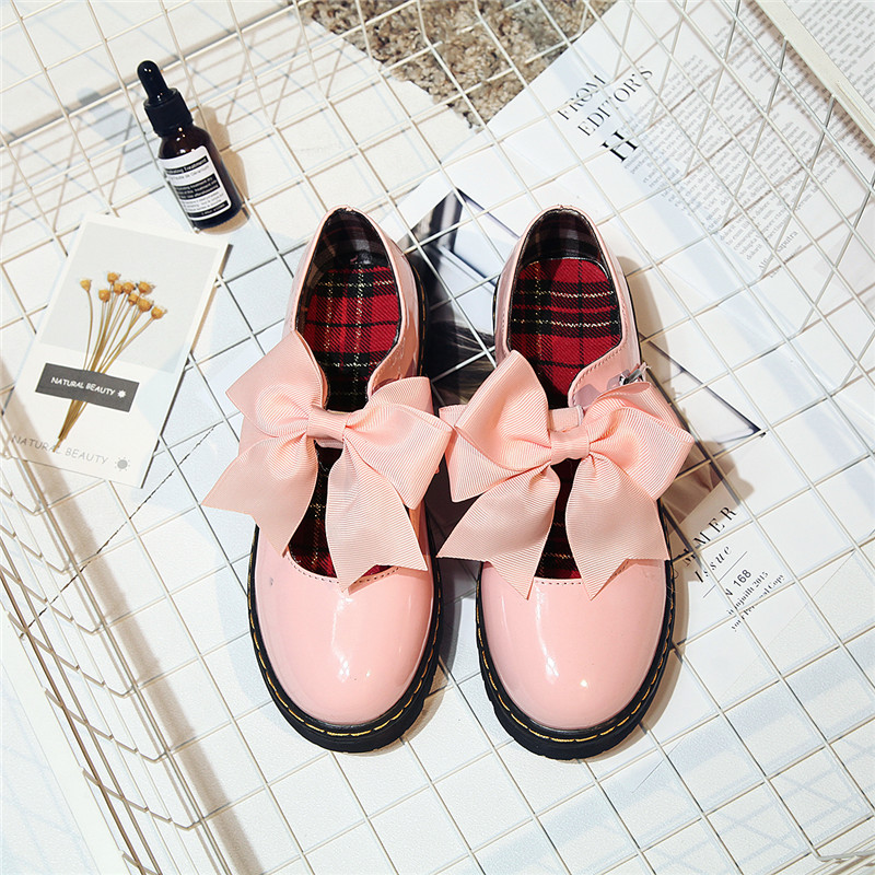 Calzado Estilo Oxfords Light black Primavera rosado Caz2006 Zapatos Británico Casual Honed De Cuero Black Lace Up Mujer Bowtie Tacones Vogue Pisos Oxford ZR54q4