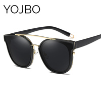 YOJBO Luxury Women Polarized Sunglasses 2018 Mirror Sun Glasses Oversized Sunglass Ladies Brand Designer Vintage Retro Glasses