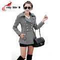 Black Friday Women Coat 2017 Autumn And Winter Medium-Long Outerwear Female Woolen Coat Slim Double Breasted Abrigos Mujer