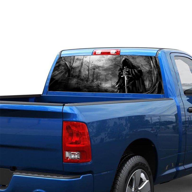 Image 5 - 3D Grim Reaper Death Forest Rear Window Graphic Sticker Car Truck SUV Van Decal-in Car Stickers from Automobiles & Motorcycles