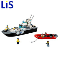Lis City Series Police Patrol Brick Toy Boy Boats Building Blocks Toy DIY Educational Toys