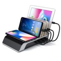 Laadstation Voor Meerdere Apparaten Docking Station Met Qi Draadloos Opladen Pad  Smart Ic Technologie Voor Smartphones Tablet