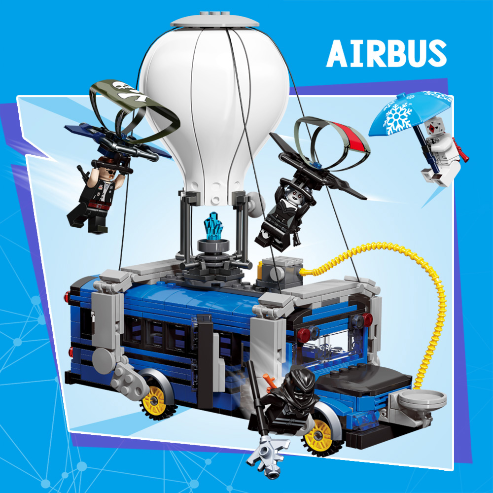 Fortress Night blocks toys airbus mini movable building bricks figures Christmas gifts for children kids fortnighting model toys 2