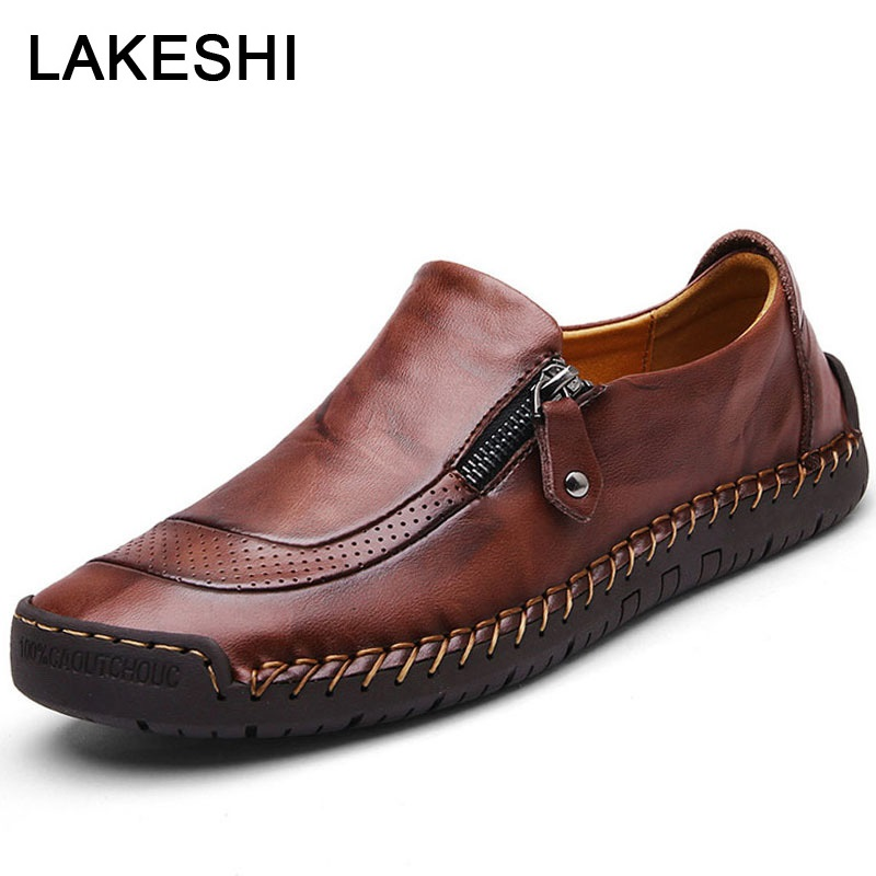 Men Casual Shoes Comfort Men Shoes Fashion Men Loafers Genuine Leather Shoes Men Oxford Male Shoes Adult Sneakers Plus Size 48
